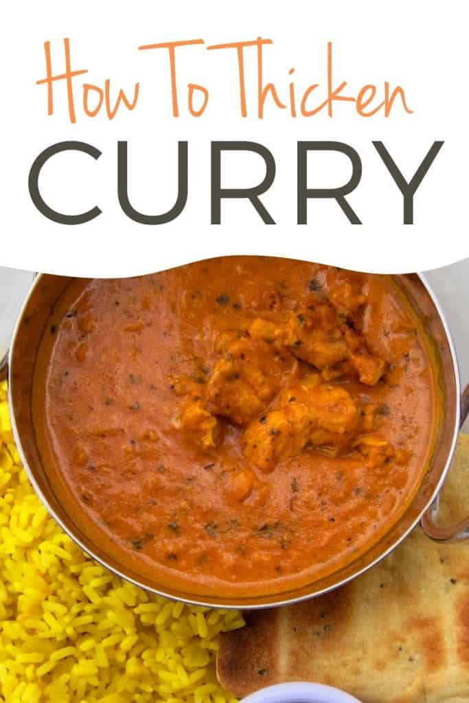 simmering a curry sauce to thicken it up